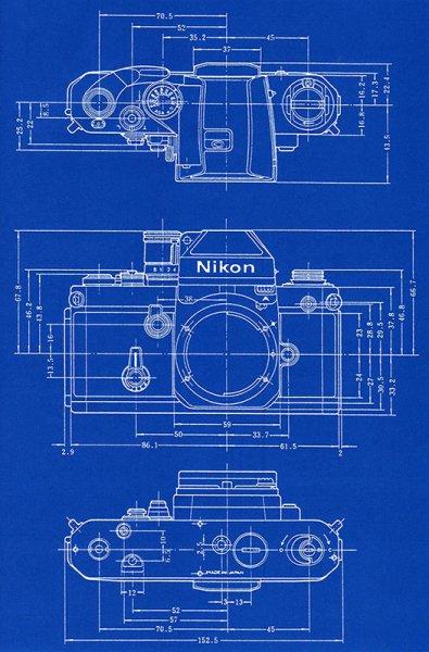 Nikon F2 Blueprint