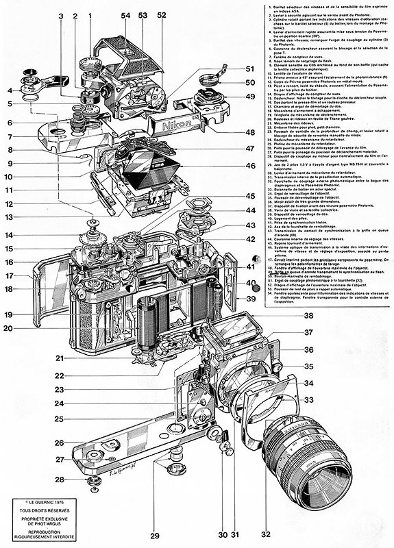 Nikon F2 Schematic, Le Guernic 1976