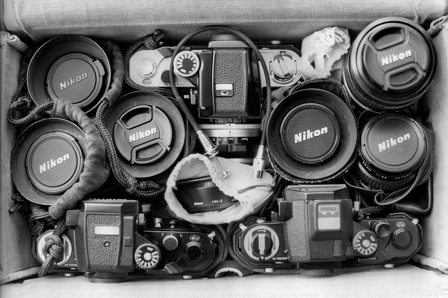 Ready for any adventure: Nikon F2 Kit housed neatly in the Nikon FB-11A carrying case.