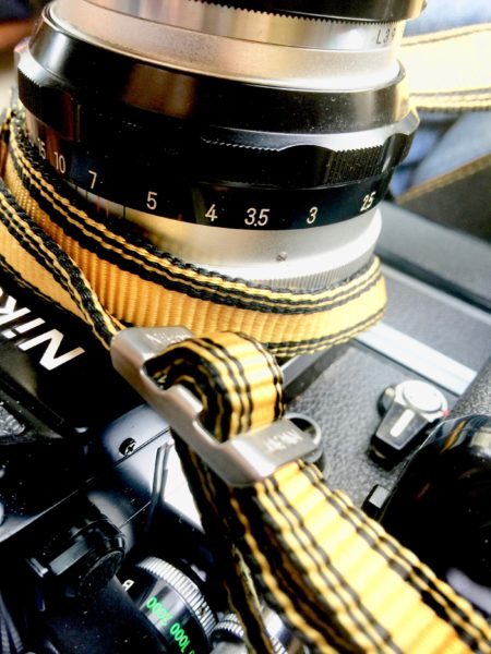 Somehow the original Nikon AN-6Y yellow strap - complete with metal buckles - is the perfect companion for a camera like the F2 + MB-1 Battery Pack + MD-2 Motor Drive.