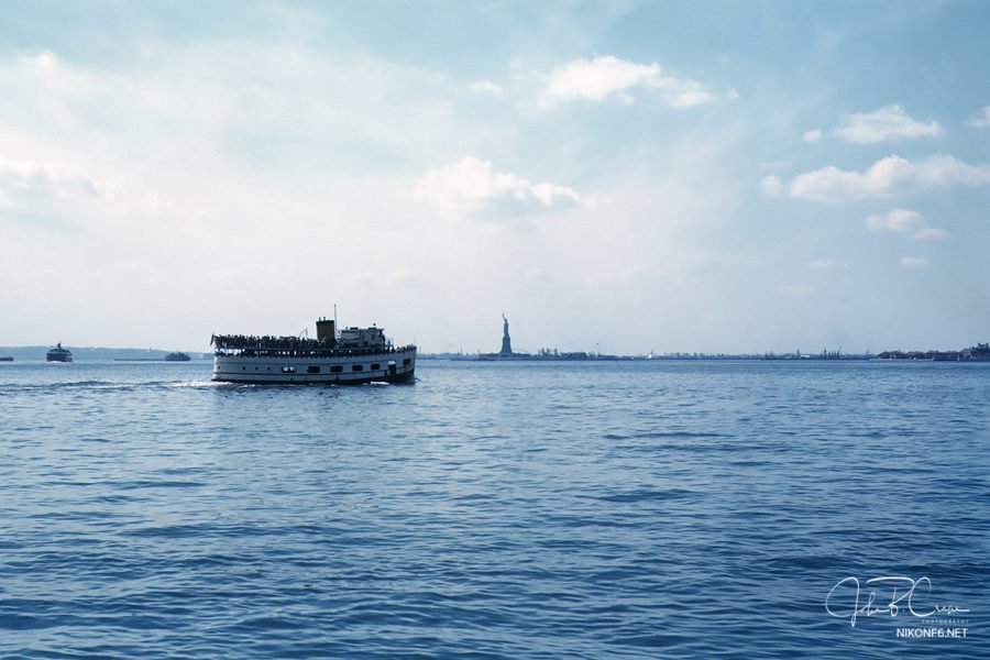 Statue of Liberty, NY on Kodachrome. Date unknown.