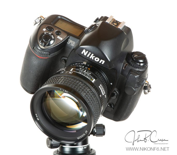 Nikon F6 and Nikkor 85mm f1.4D lens. Match made in heaven.