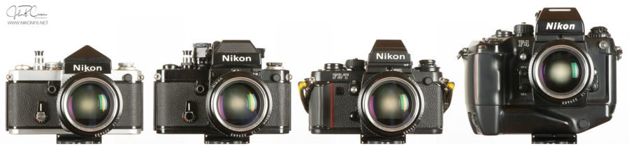 Nikon F through F4s, Front View