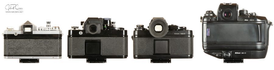 Nikon F through F4S-Rear View