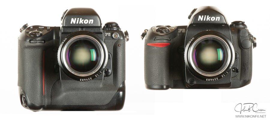 Nikon F5 vs. Nikon F6-Front View