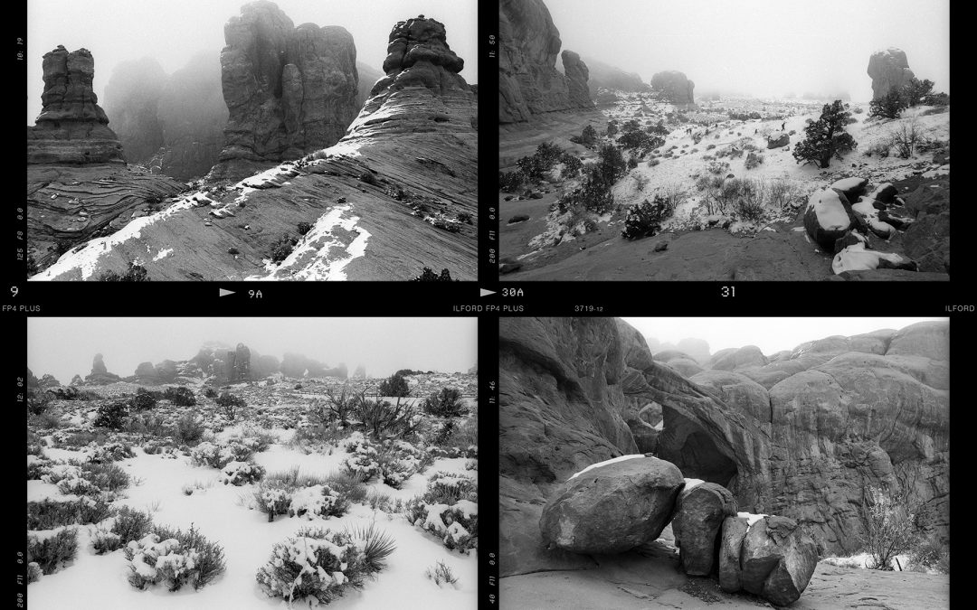 Contact Sheet: Arches National Park, January 2020