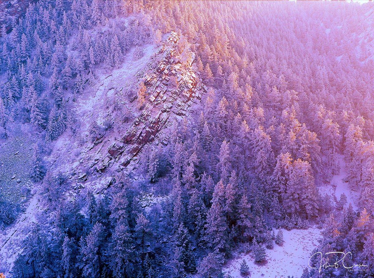Flatirons Frost, Boulder, CO