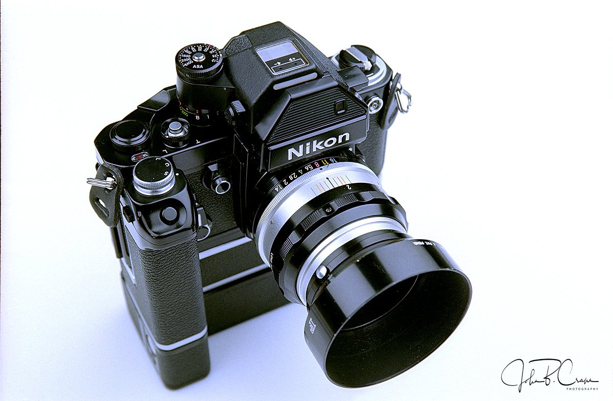 Nikon F2S, under the studio lights