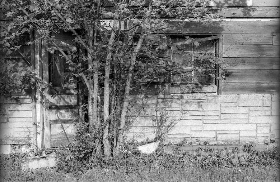 Abandoned Boarding House, Lincoln Highway, Scranton, Iowa