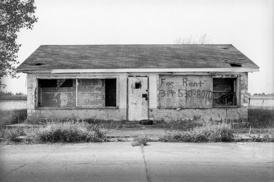 Abandoned wayside station along the old Lincoln Highway, somewhere in West-Central Iowa.