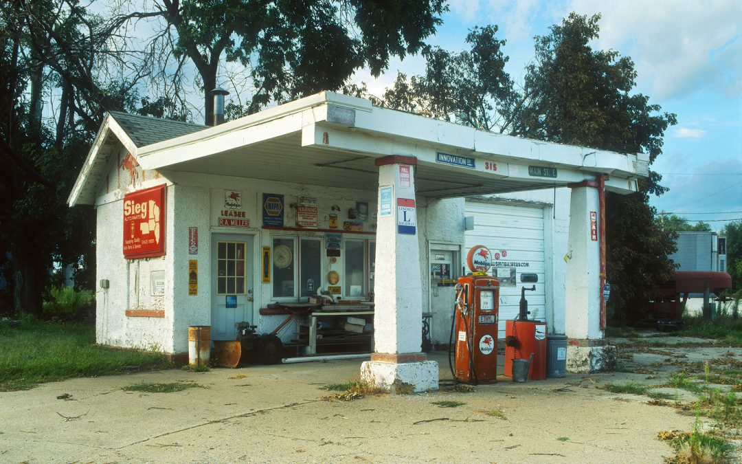 R.A. Miller Mobil Station along the Lincoln Highway, Grand Junction, Iowa